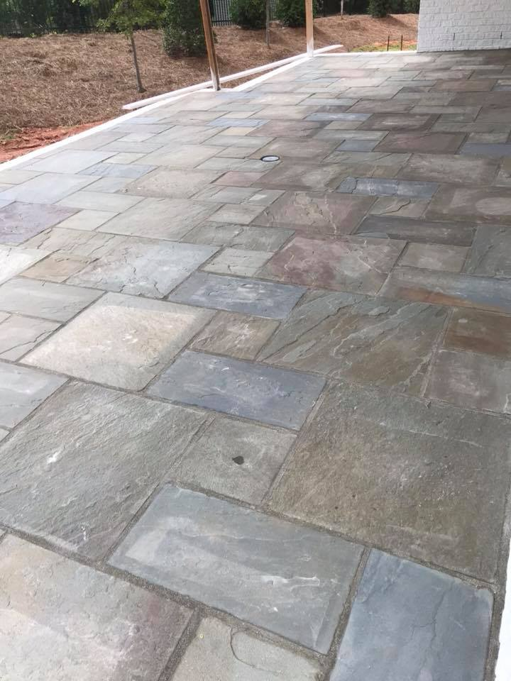 Bluestone patio 1